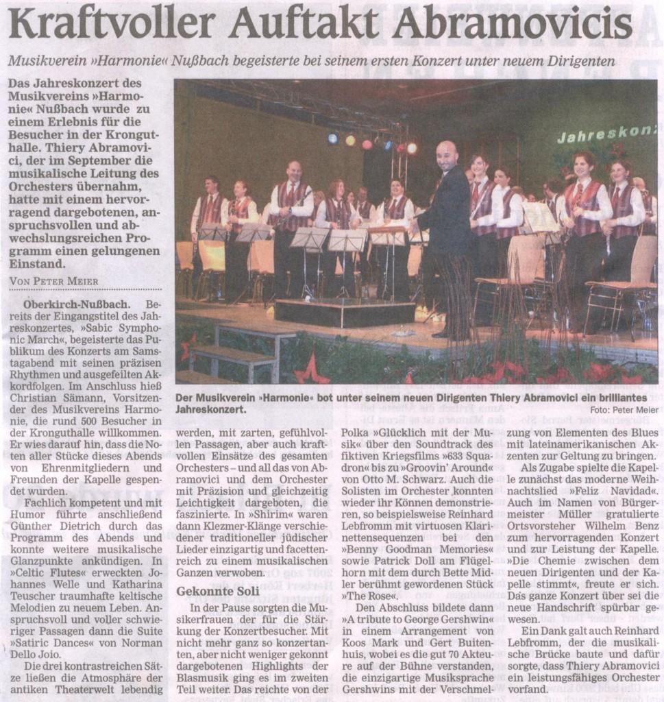 Jahreskonzert 2007