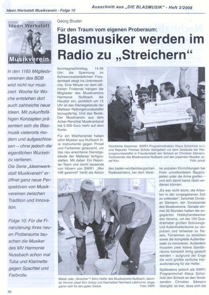 DIE BLASMUSIK-Wer hilft gewinnt Teil 1 vom 1. März 2008