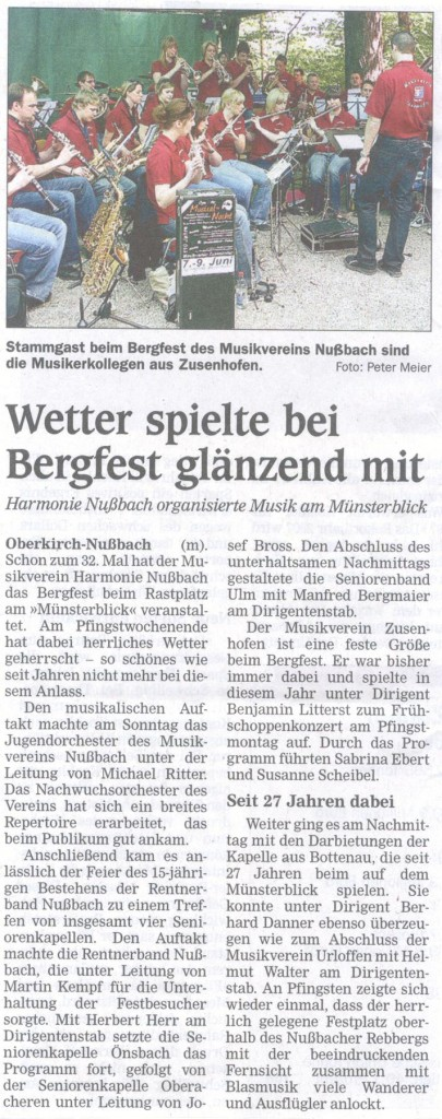 Bergfest am Münsterblick 2008