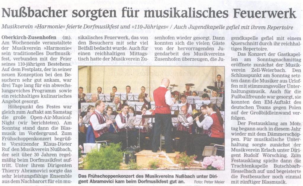 Sommerfest des Musikvereins Zusenhofen
