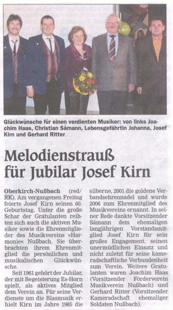 60. Geburtstag Josef Kirn