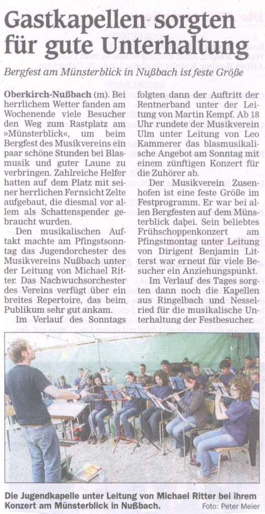 Bergfest am Münsterblick 2009